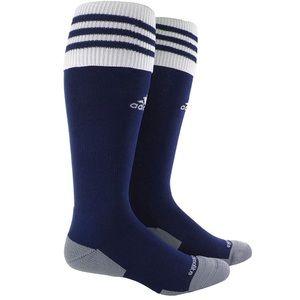 Adidas NWT Kids Soccer Knee Socks Navy White Sz S